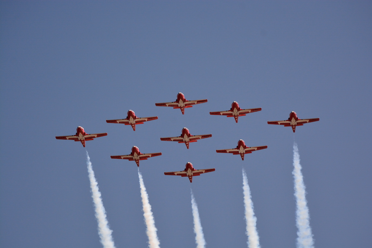 Canadian Forces Snowbirds, photo by Mark Kardos